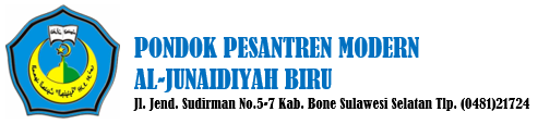 Official Website Pondok Pesantren Modern al-Junaidiyah Biru, Kabupaten Bone, Provinsi Sulawesi Selatan